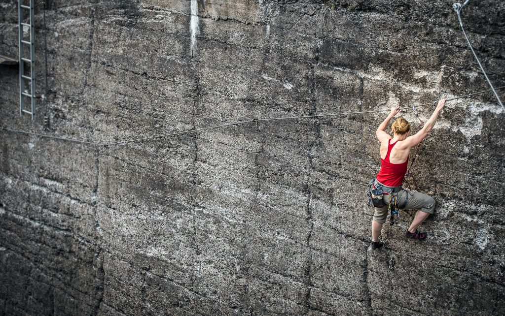 Woman rock climbing is what a great therapist does they leaving you feeling more confident than when you left the room