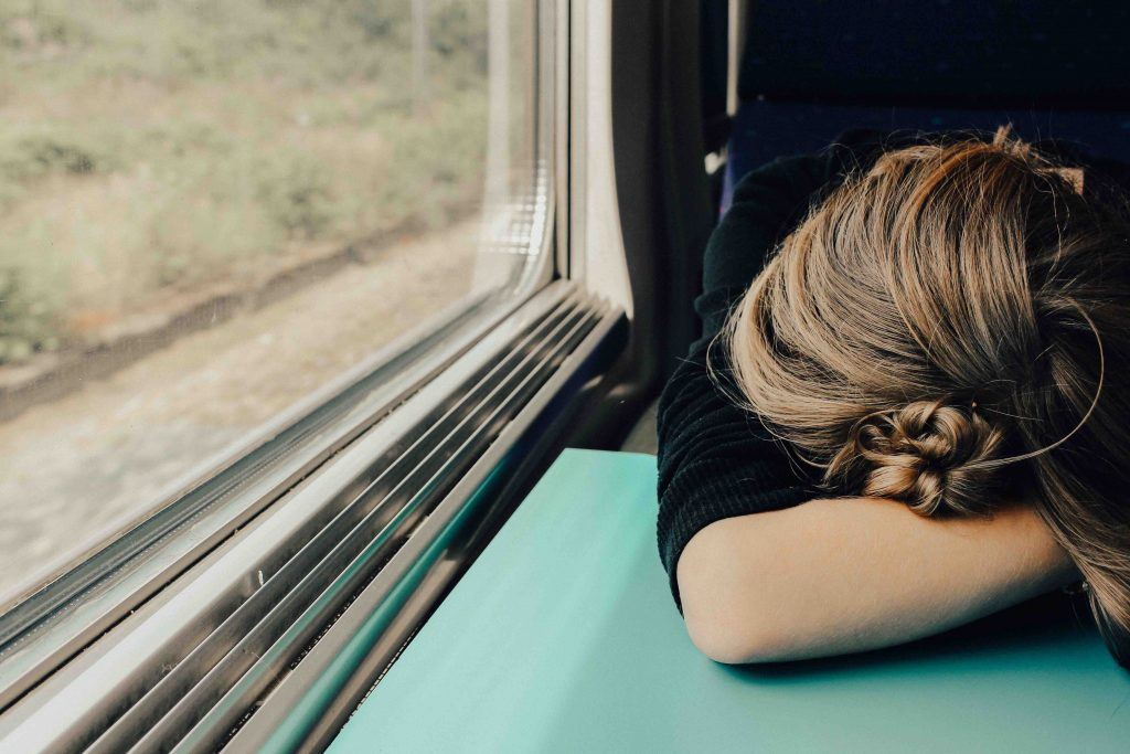 Woman feeling tired all the time