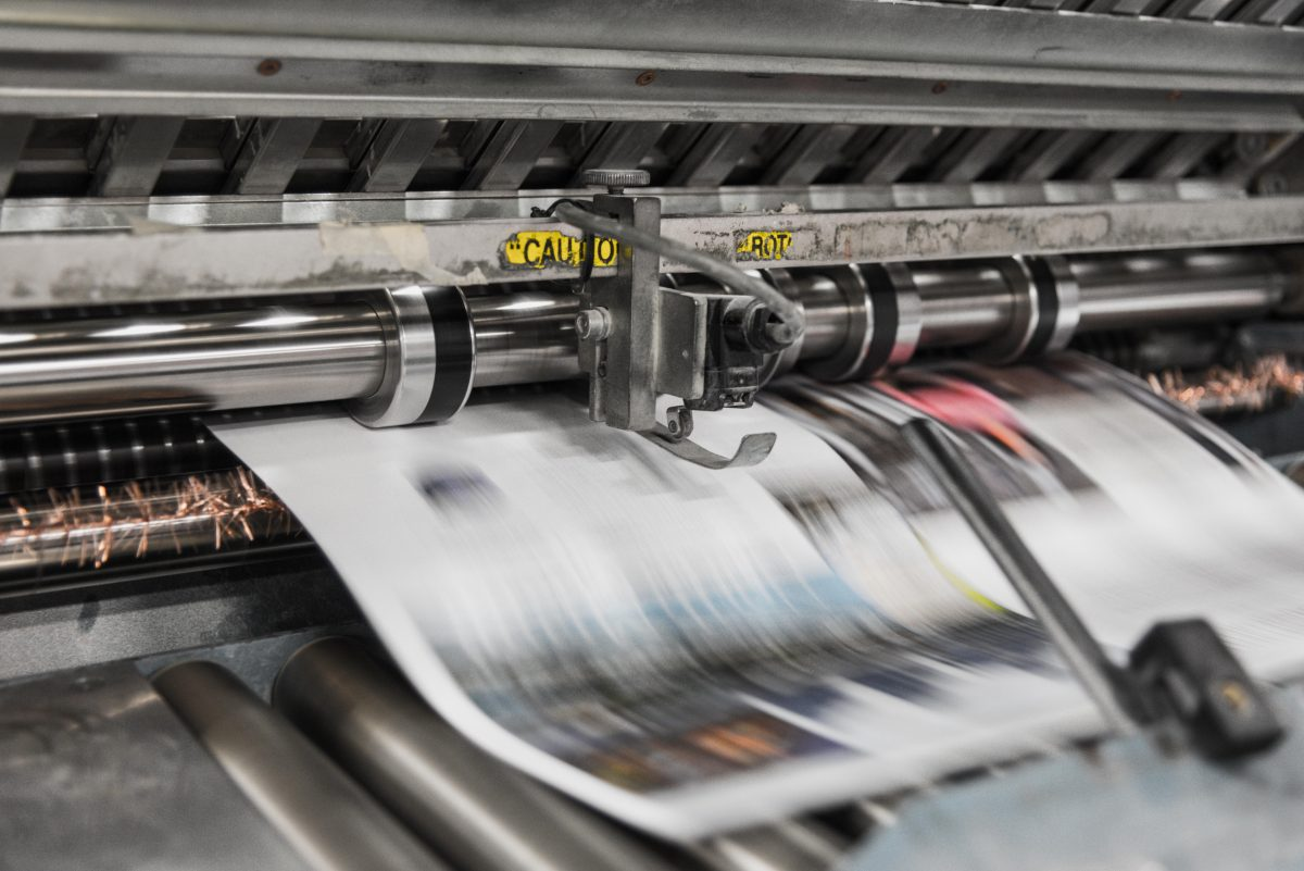Newspapers being printed on how can I overcome my fear of change