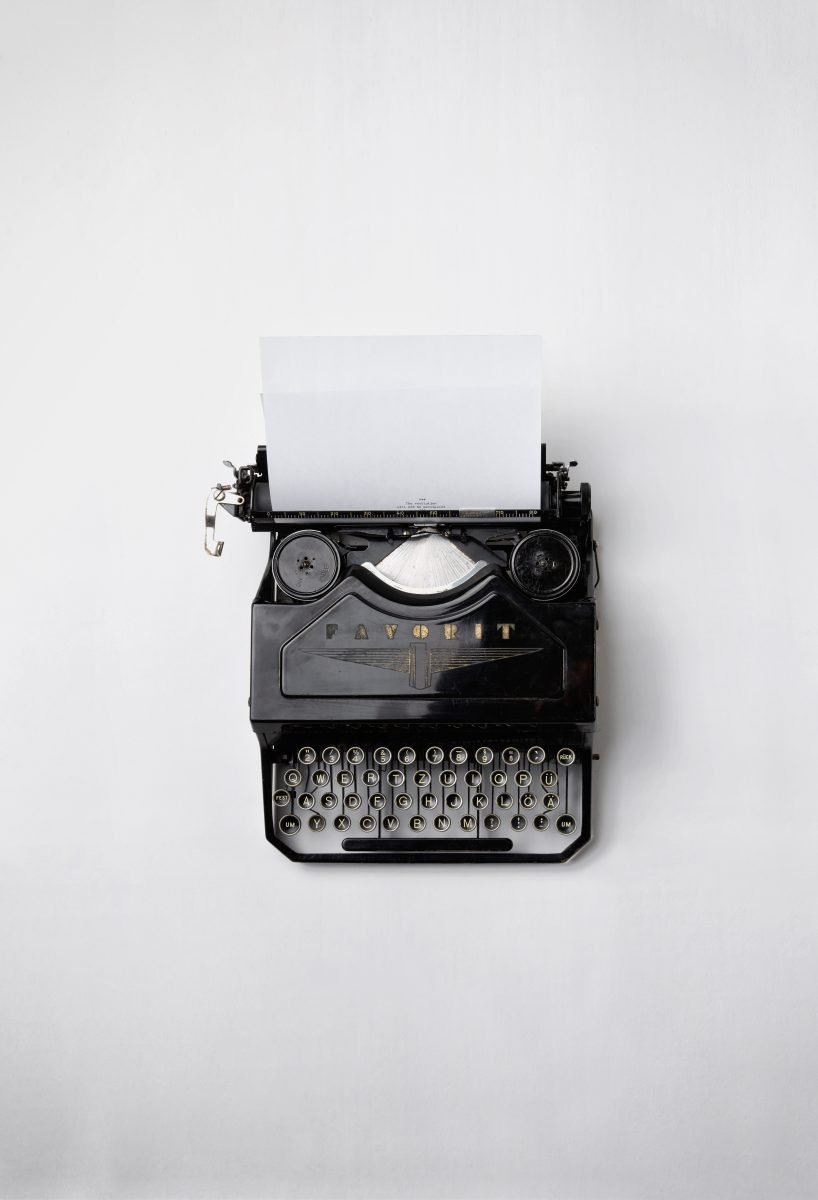 A type writer to show one of the three main types of changes and how to overcome my fear of change